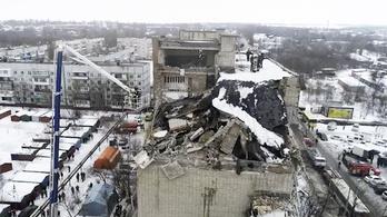 Újabb gázrobbanás Oroszországban, négy lakás romba dőlt