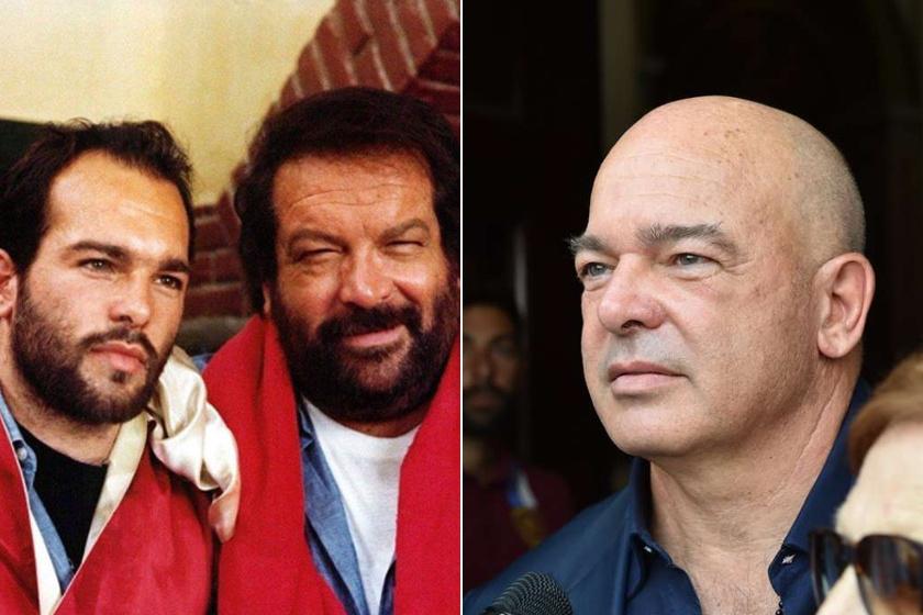 Néhány éve - bal oldali fotó - még mennyire hasonlított egymásra Carlo és Giuseppe Pedersoli! Manapság az 58 éves férfi kicsit másképp néz ki, hajat és szakállat sem visel.
