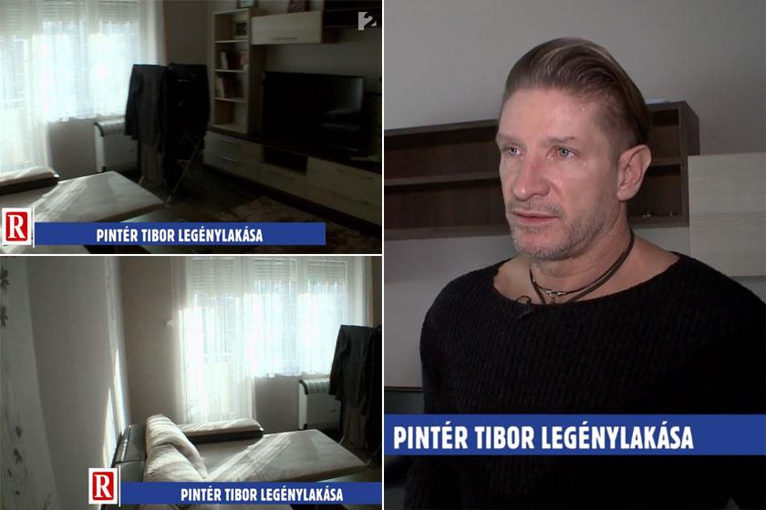 Pintér Tibor nappalija modern és minimalista stílusú. Az otthonában nincs túlzsúfoltság.