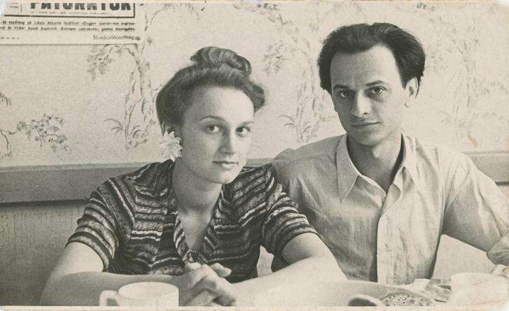 Nemes Nagy Ágnes és Lengyel Balázs 1946-47 körül, házasságuk elején