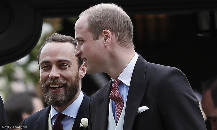 James Middleton a sógorával, Vilmos herceggel. Kattintson a képre a nagyobb verzióért!