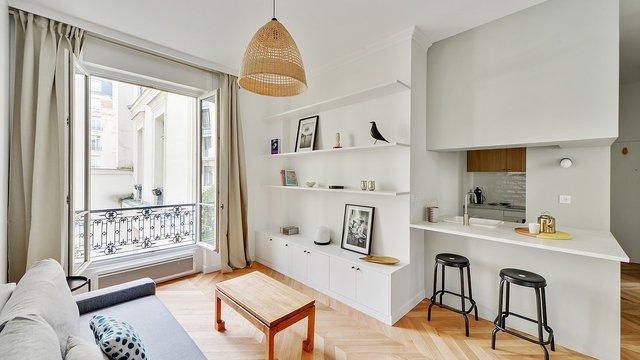Párizsi lakás ötletes megoldásokkal 37 m2-en