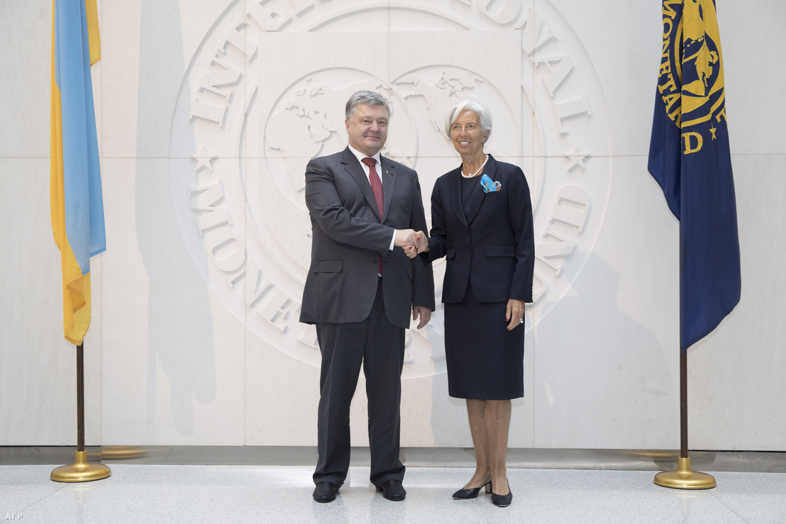Petro Porosenko és Christine Lagarde, a Nemzetközi Valutaalap vezérigazgatója találkozott 2017. június 20-án, az IMF központi irodájában, Washington-ban
