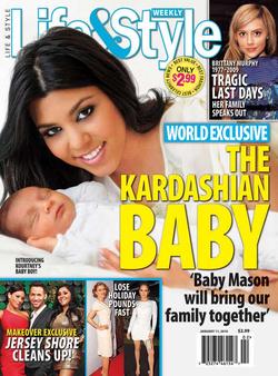 Kourtney Kardashian első gyermekével