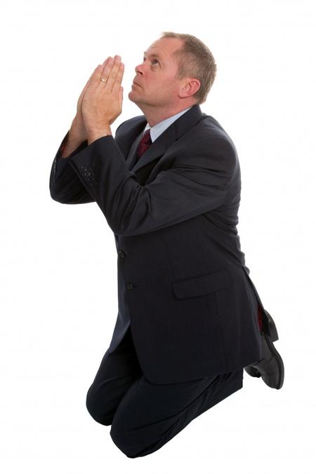 stockfresh 215210 businessman-praying sizeS