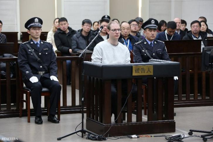 Robert Lloyd Schellenberg a tárgyalásán Kínában
