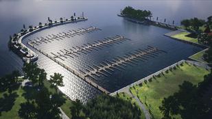 133 férőhelyes, mediterrán jellegű kikötőt terveznek Révfülöpre
