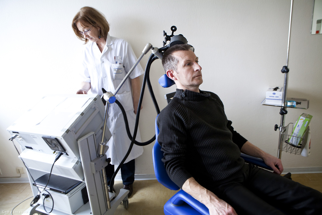 rTMS, repetitív transzkraniális mágneses stimulációs kezelés
