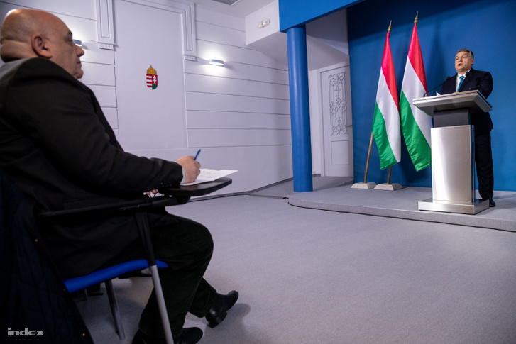 Orbán Viktor a Kormányinfón 2019. január 10-én