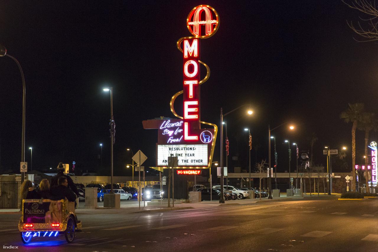 Az Ambassador Motel neoncégére arra bíztat, hogy hozzunk nyugodtan lámákat magunkkal, díjtalanul elszállásolják őket.