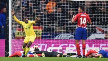 3-3 után, a 88. percben bukott az Atlético