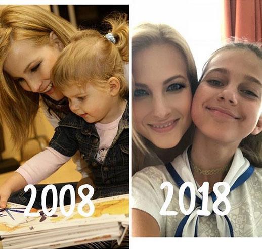 Várkonyi Andrea szinte semmit sem változott, de copfos kislányából tíz év alatt gyönyörű kamasz lett.