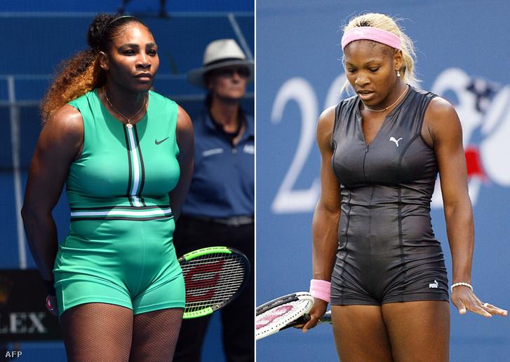 Serena 2019-ben és 2002-ben, egyaránt rövid macskadresszben