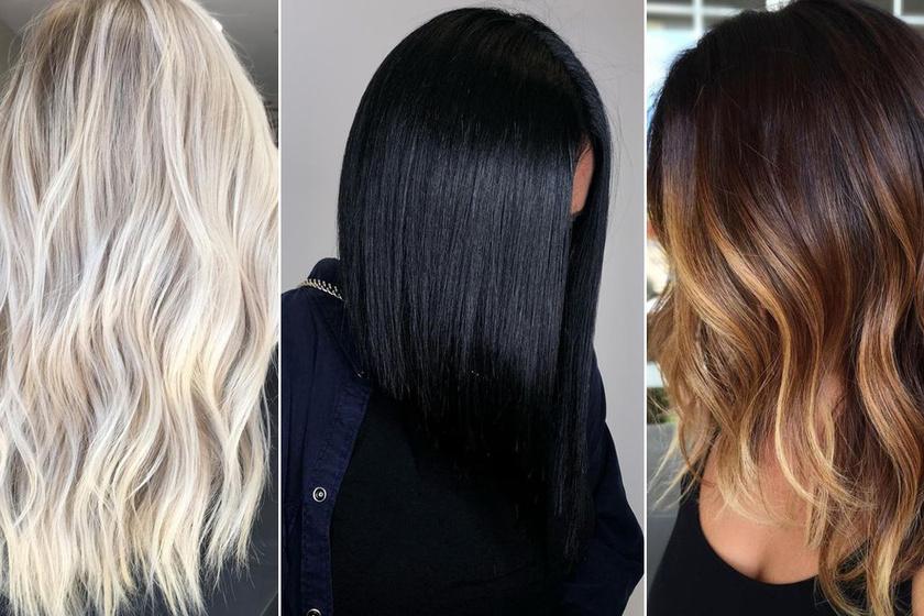 2019 nőies hajszíntrendjeit minden nő imádja majd - A legdivatosabb árnyalatok a jeges szőkétől a fényes tintafeketéig
