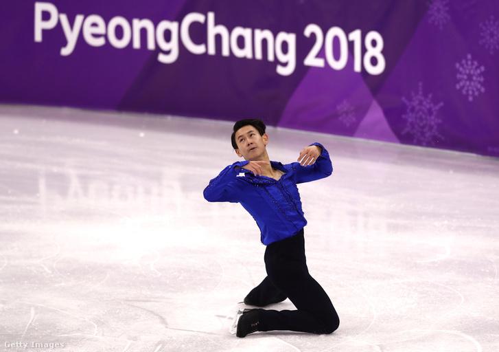 A kazahsztáni Denis Ten a 2018-as téli olimpián Dél-Koreában február 16-án