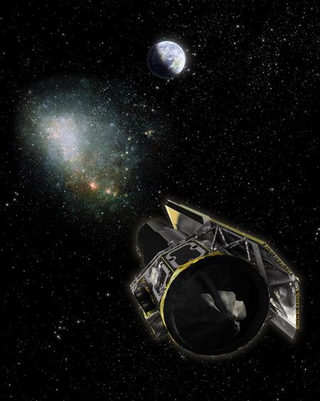 A Spitzer űrteleszkóp egy láthatatlan objektumot, a vélhetőleg sötét anyagot tartalmazó OGLE-2005-SMC-001-et vizsgálja galaxisunkban