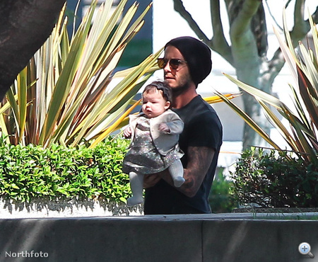 Harper Seven Beckham édesapjával 2011. október 7-én