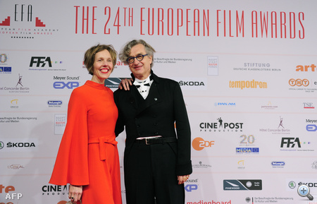 Wim Wender feleségével
