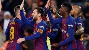 Dembele és Messi továbbjuttatta a Barcát