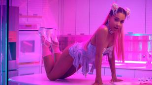Négykézláb pucsítós videóval licitál rá Ariana Grande a Thank U, Nextre