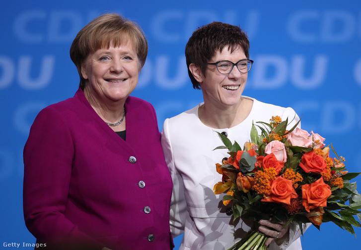Angela Merkel volt és Annegret Kramp-Karrenbauernek új pártelnök