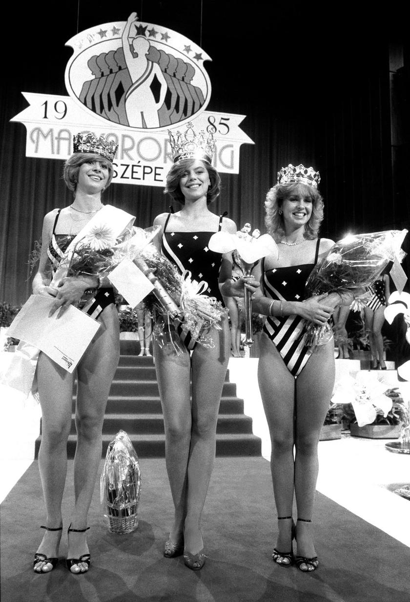 Molnár Csilla szépségkirálynő és udvarhölgyei, Kruppa Judit - jobbra - és Füstös Veronika.
