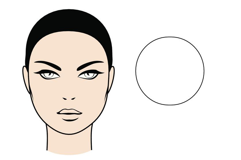 Ha a hajvonalad félköríves, az arcod nagyjából ugyanolyan széles, mint amilyen hosszú, inkább lekerekítettek a vonásaid, a homlokod és az állad pedig nagyrészt egyforma széles, akkor kerek az arcformád.