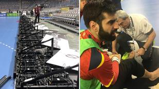 Rádőlt az óriási LED-fal a spanyol kéziválogatott két játékosára a vb-n, Sterbiket riadóztatták