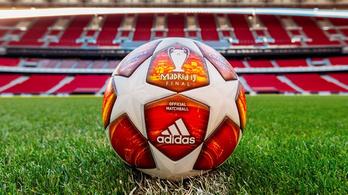 Zavaró színekben pompázik a Bajnokok Ligája új futball-labdája