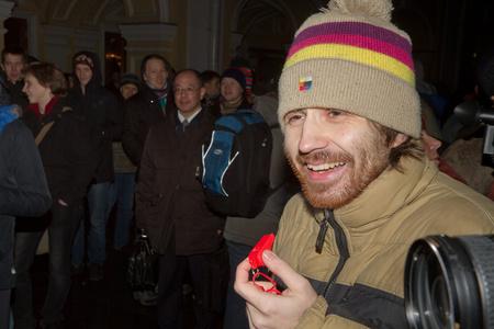 Leonyid Nyikolajev a tüntetés elején