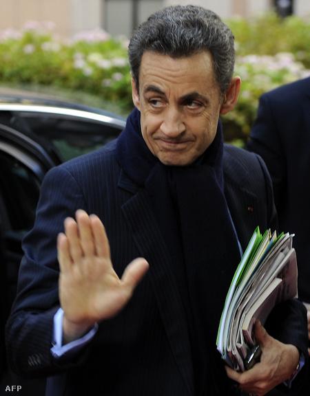Nicolas Sarkozy az EU-csúcson