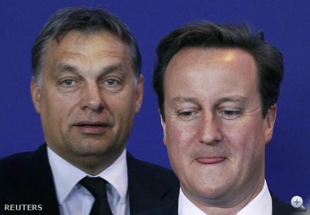 Orbán Viktor és David Cameron brit miniszterelnök