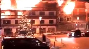 Tűz ütött ki egy francia síközpontban, ketten meghaltak