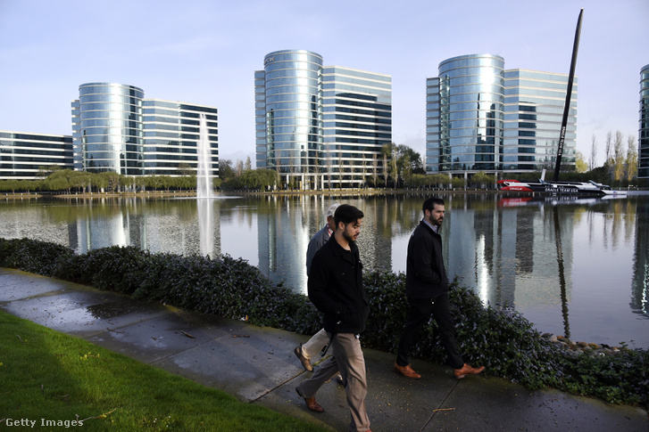 Oracle Corp. székhelye Redwood City-ben, Kaliforniában