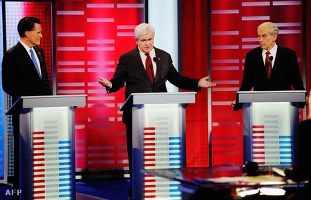 Mitt Romney , Newt Gingrich és Ron Paul