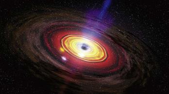 A galaxis közepén lévő fekete lyuk energiakilövellése egyenesen ránk célozhat