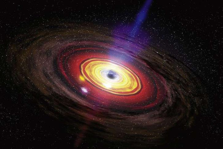 A Sagittarius A*-ról készített koncepciórajz
