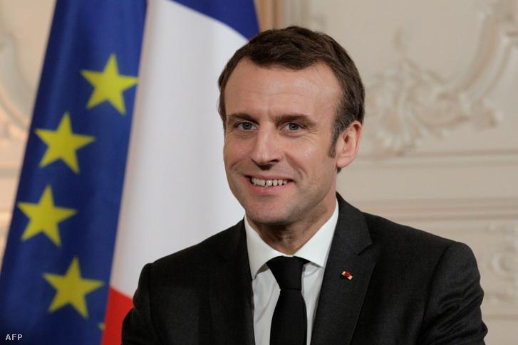 """Emmanual Macron a """"Válaszd Franciaországot"""" elnevezésű találkozón Versailles-ban, 2019. január 21-én"""