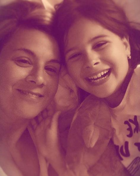 Ábel Anita tízéves kislánya, Luca nagyon hasonlít híres édesanyjára.