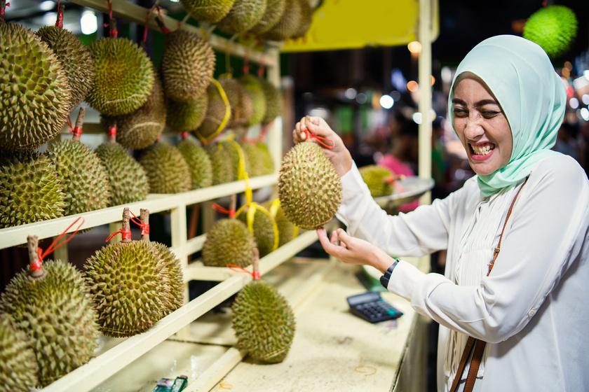 durián gyümölcs ázsia