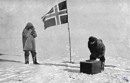 Egészen pontosan 1911. december 14-én délután háromkor az expedíció résztvevői egyszerre kiáltottak fel, amikor a műszerek tanúsága szerint elérték a Déli sarkot.