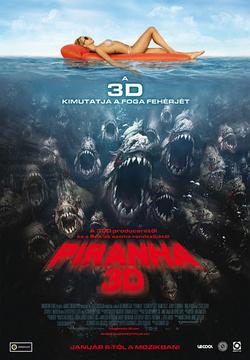 Piranha 3D magyar plakát