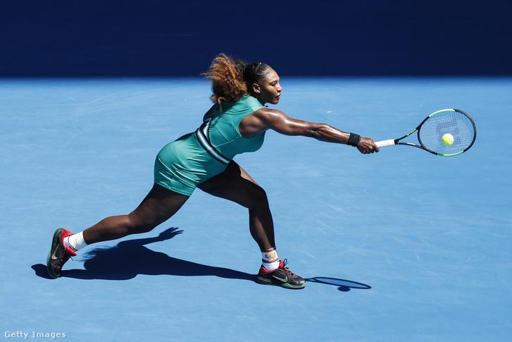 Serena Williams Karolina Pliskovával szembeni döntőben, Melbourne-ben 2019. január 23-án