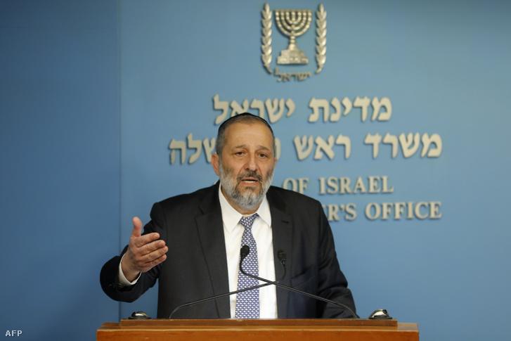 Arje Deri izraeli belügyminiszter