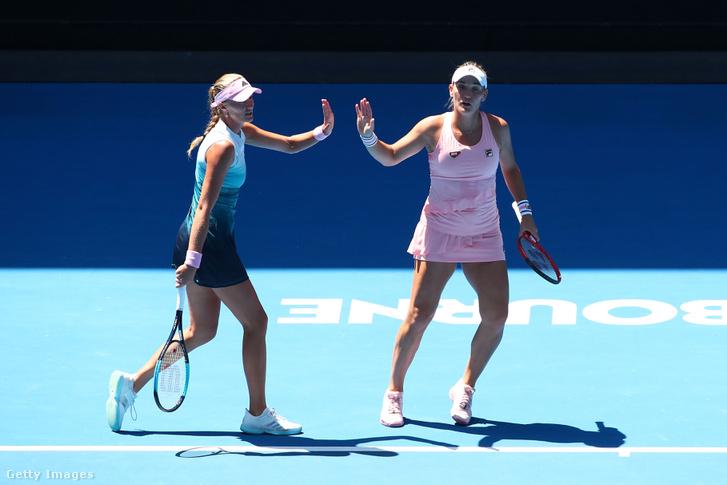 Kristina Mladenovic és Babos Tímea a melbourne-i elődöntőben, 2019. január 23-án