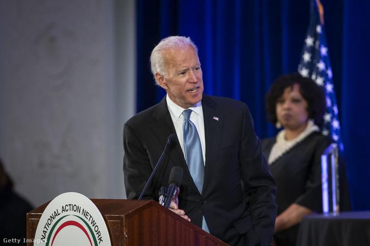Joe Biden beszél a National Action Network Breakfast eseményen, Washington-ban 2019. január 21-én
