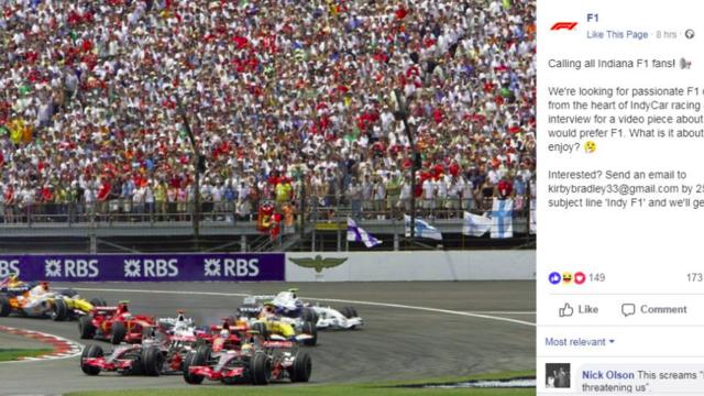 Az F1 Facebook-oldala közzétette az utóbbi idők legamatőrebb bejegyzését