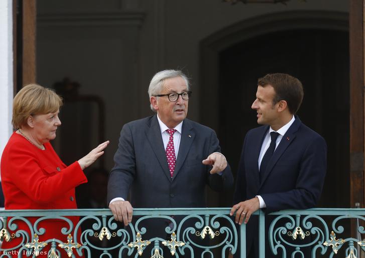 Merkel, Juncker és Macron 2018 júniusában