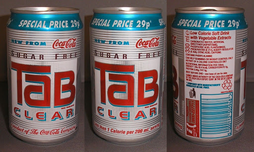 Tab Clear Special Price 29p 1993