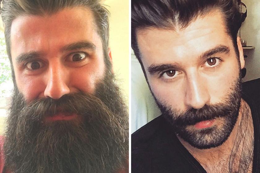 10 férfi, akinek teljesen megváltozott az arca, miután beült a borbély székébe